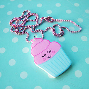 Cupcake Acrylic Children's Necklace - gifts for teenagers