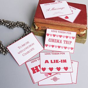 Love Token Cards - ribbon & gift tags
