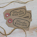 10 'Made With Love' Tags