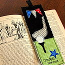 Personalised Golf Bookmark