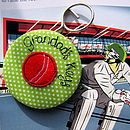 Personalised Cricket Ball Keyring