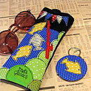 Personalised Fishing Keyring and Glasses Case