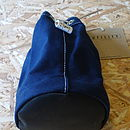 Navy canvas wash bag