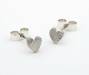 Silver Heart Earrings - gifts under £25