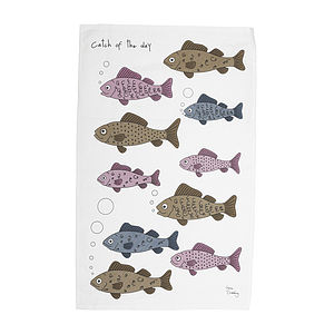 'Catch Of The Day' Tea Towel - kitchen accessories