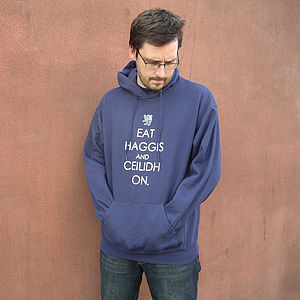 'Eat Haggis And Ceilidh On' Hoodie - t-shirts & tops