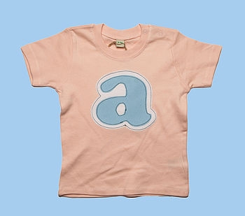 Personalised Girl's Letter T Shirt