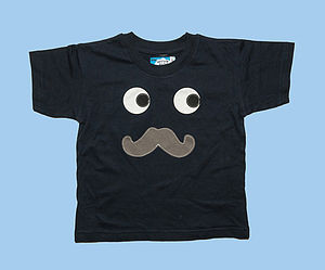 Boy's Moustache Applique T Shirt