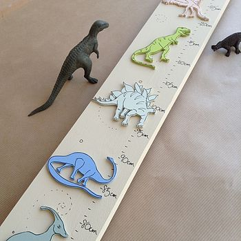Personalised Dinosaur Child's Height Chart