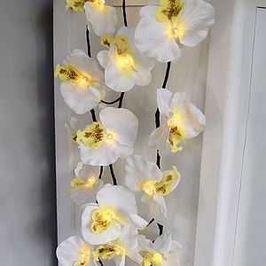 Orchid Light Garland - bunting & garlands