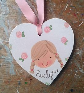 Personalised Girl's Gift Tag Decoration - personalised