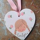 Personalised Girl's Gift Tag Decoration