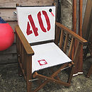 Personalised Sailcloth Tennis Chair