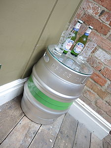 Upcycled Beer Cask Table - furniture
