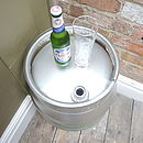 Upcycled Beer Cask Table