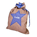 Boy's Hessian Gift Sack