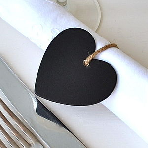 Chalkboard Heart Place Setting - table decorations