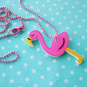 Flamingo Acrylic Fashion Necklace - gifts for teenagers