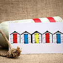 Beach Huts Landscape Greeting Card