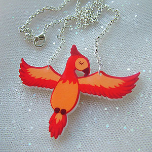 Phoenix Acrylic Fashion Necklace