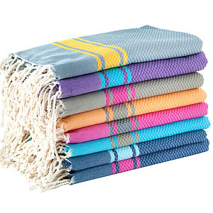 Large Hamam Towel With Stripes - bed, bath & table linen