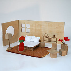 Magnetic Engraved Design Play Room - traditional toys & games