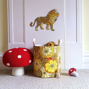 Personalised Vintage Fabric Toy Storage Tub
