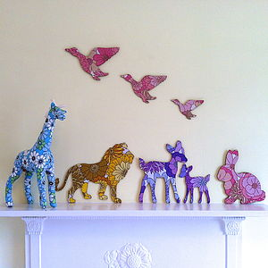 Vintage Fabric Animal Wall Decoration