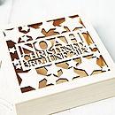 Personalised Star Christening Keepsake Box