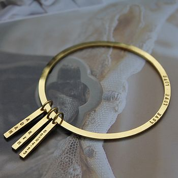 Personalised Classic Tag Bangle