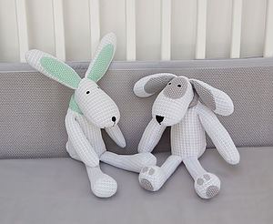 Safebreathe Hoppy Bunny Rabbit Soft Toy - children's easter