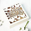 Personalised Heart Wedding Gift Keepsake Box