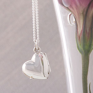 Silver Heart Locket Necklace - jewellery