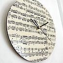 Handmade Circular Vintage Music Clock