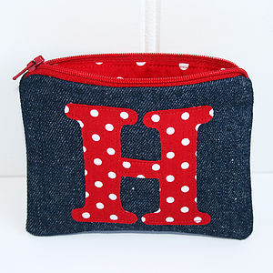 Personalised Denim Purse - wedding thank you gifts