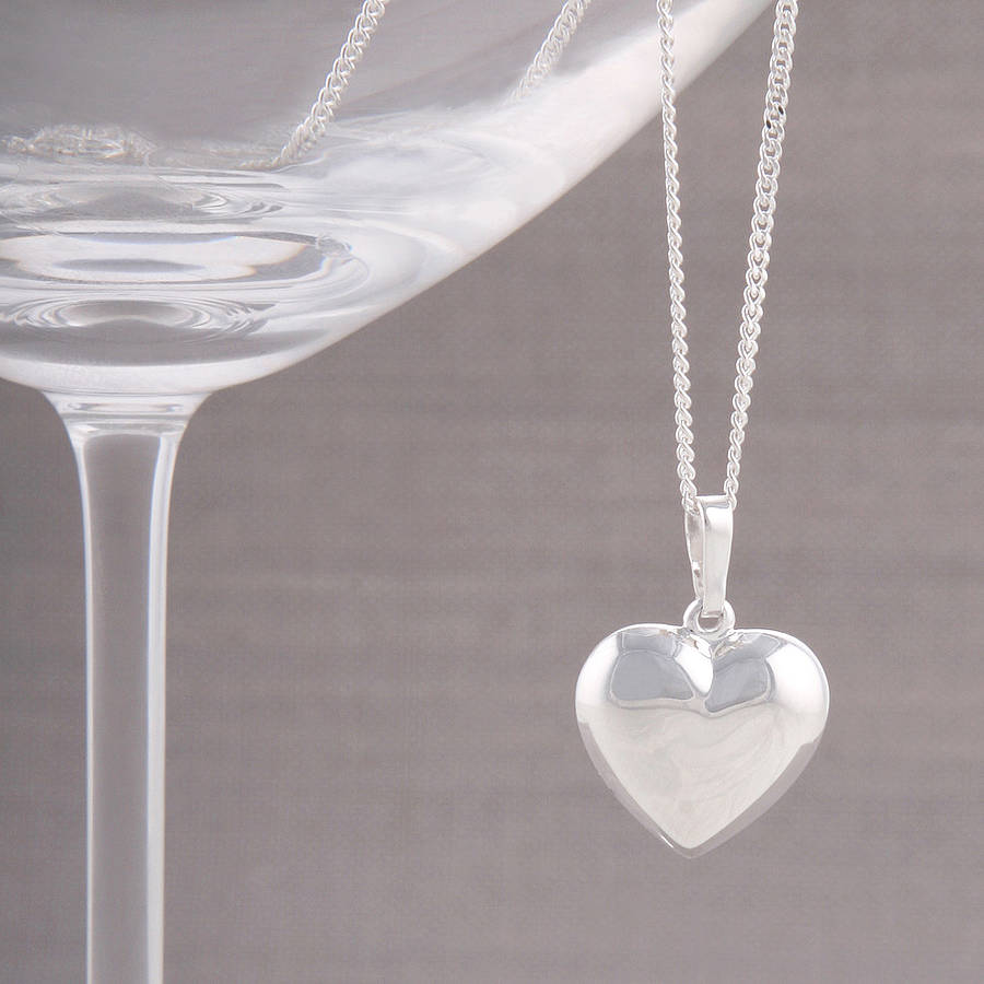 Silver Heart: Silver Heart Necklace By Baronessa