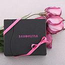 Baronessa box with ribbon