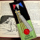 Personalised Cricket Bookmark