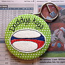 Personalised Rugby Ball Keyring