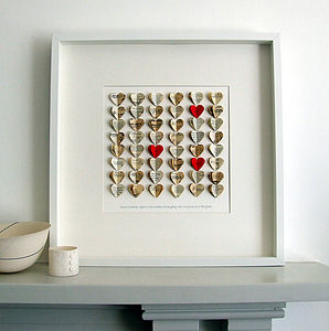 Large You And Me Heart Artwork - art & pictures