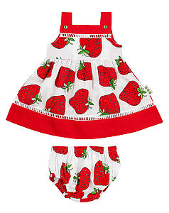 Strawberry Print Sundress And Matching Pants