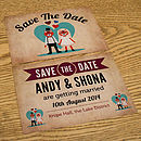 Foxes Themed Wedding Save The Date Cards