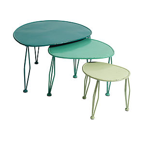 Metal Nesting Tables By Nordal - furniture