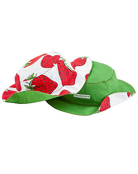 Strawberry Print Reversible Hat