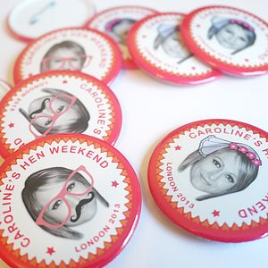 Personalised Hen Party Badges - hen party styling