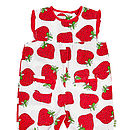 Strawberry Print Summer Playsuit
