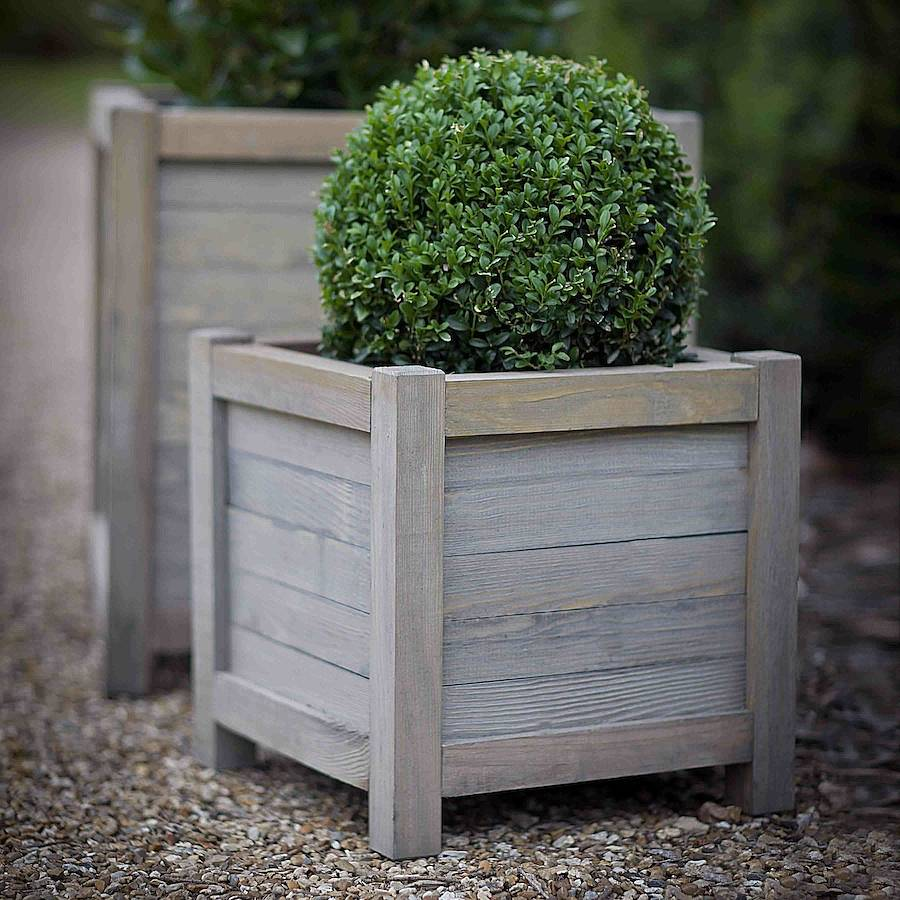 wood planter by idyll home. Black Bedroom Furniture Sets. Home Design Ideas