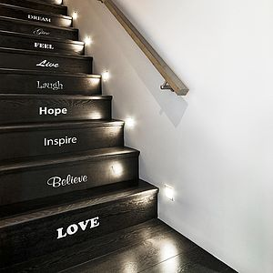 Inspirational Stair Sticker Set - wall stickers