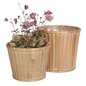 Bamboo Plant Pots Set - pots & windowboxes