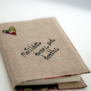 Personalised Linen And Liberty Print Notebook - diaries, stationery & books